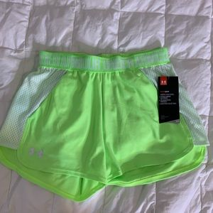 under armor heat gear neon athletic shorts ⭐️